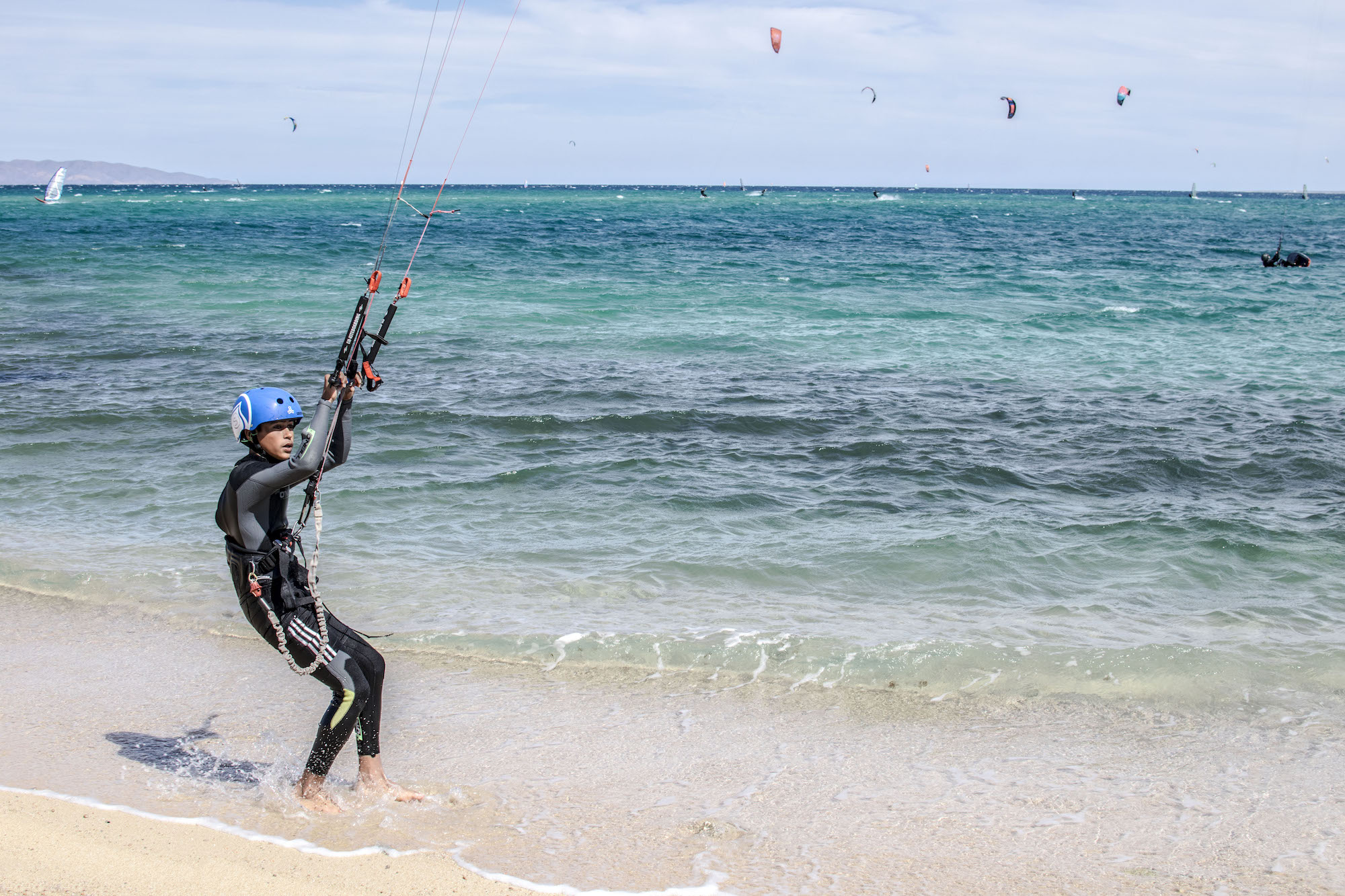 Kite Surfing at La Ventana | Isla Espiritu | La Paz | LovaLinda Photography