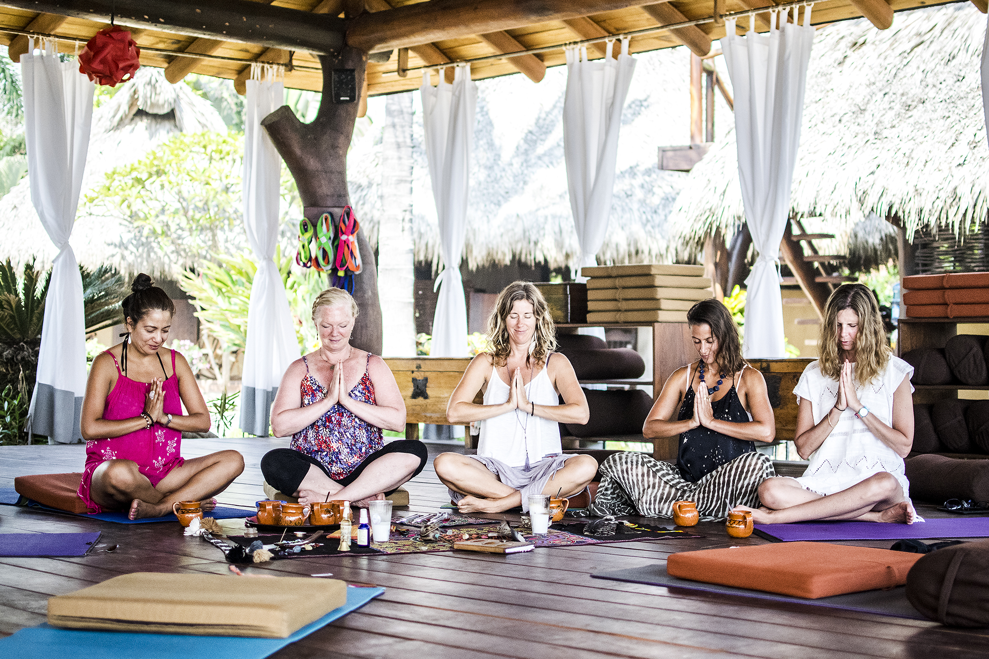 Present Moment Retreat | Sacred AUM Cacao Ceremony w: Emily Ray Henderson | Yoga Yogis | Massage Therapist | Troncones | Mexico | Yoga Retreat | Boutique Hotel | Spa Resort | LovaLinda Photography