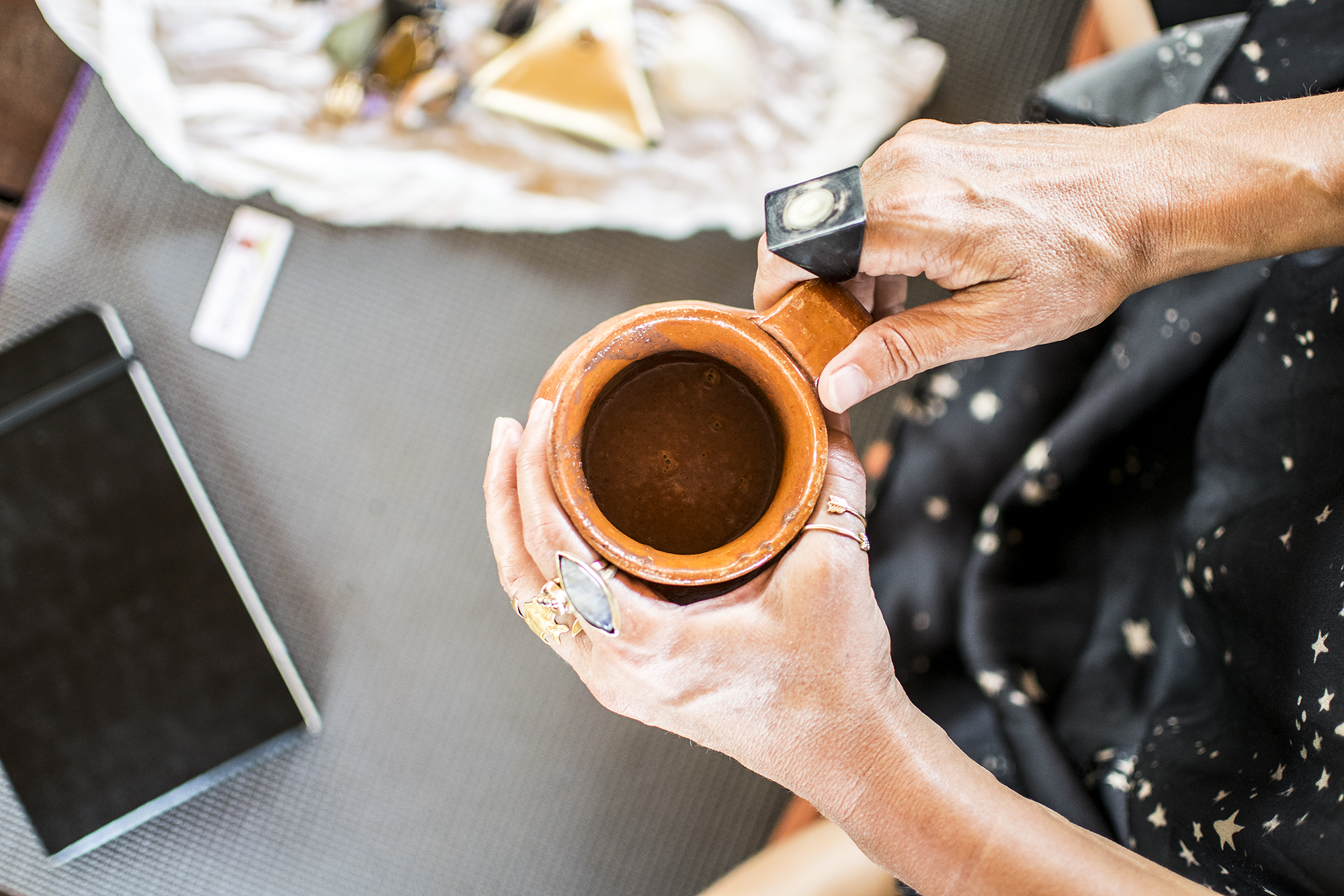 Sacred AUM Cacao Ceremony w: Emily Ray Henderson | Hot Chocolate | Present Moment Retreat | Troncones | Mexico | Yoga Retreat | Boutique Hotel | Spa Resort | LovaLinda Photography
