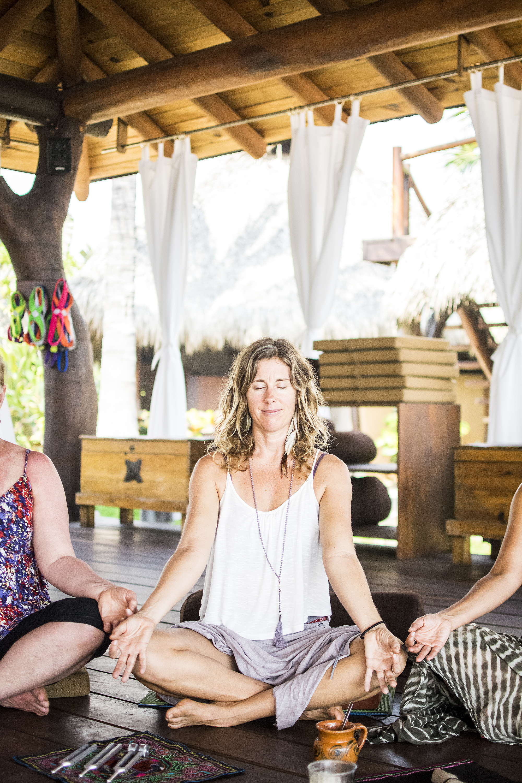 Sacred AUM Cacao Ceremony w: Emily Ray Henderson | Love Circle | Yogi | Massage Therapist | Present Moment Retreat | Troncones | Mexico | Yoga Retreat | Boutique Hotel | Spa Resort | LovaLinda Photography