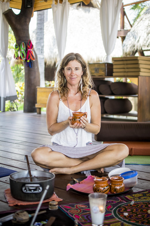 Sacred AUM Cacao Ceremony w: Emily Ray Henderson | Yogi | Massage Therapist | Present Moment Retreat | Troncones | Mexico | Yoga Retreat | Boutique Hotel | Spa Resort | LovaLinda Photography